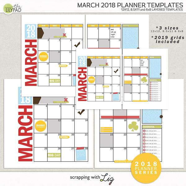 planner templates 2018