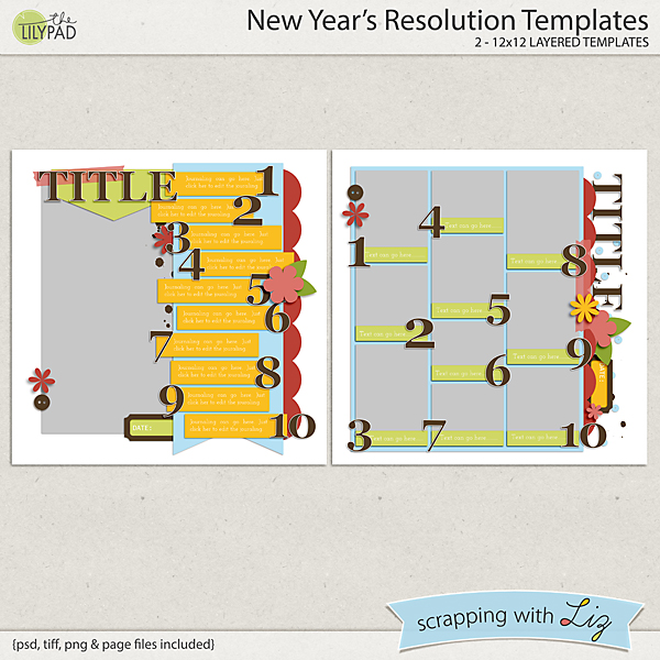 new years resolution templates