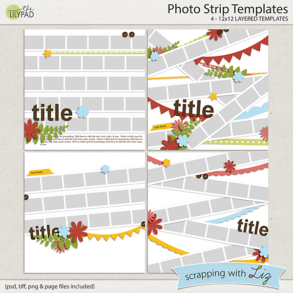 Digital scrapbook template photo strip scrapping with liz pronofoot35fo Gallery