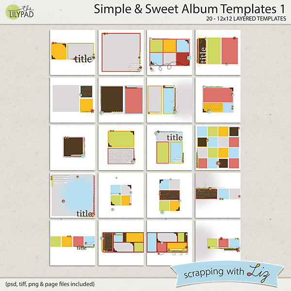 Photo Album Examples: Digital Scrapbook Template