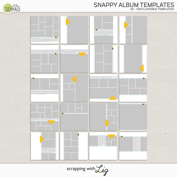 digital scrapbook template snappy album scrapping with liz. Black Bedroom Furniture Sets. Home Design Ideas