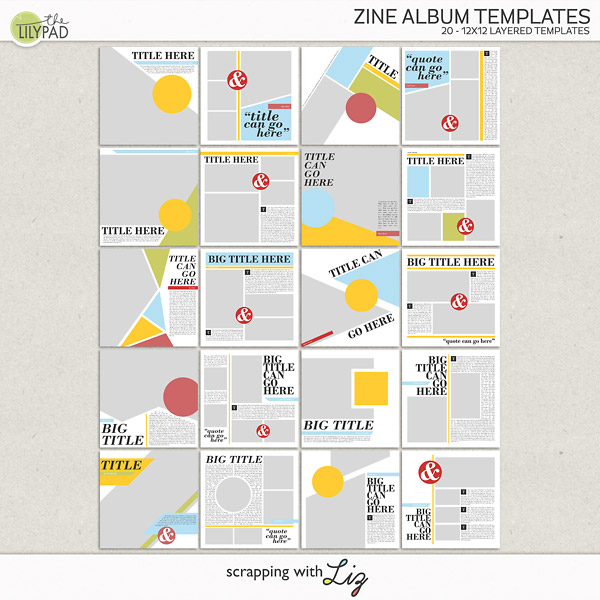 Digital Scrapbook Template - Zine Album Templates ...
