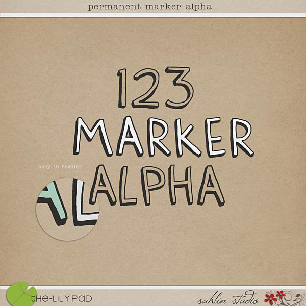 Permanent Marker Alpha by Sahlin Studio