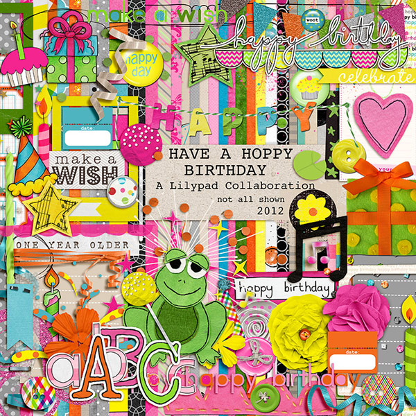 Quality DigiScrap Freebies: Have A Hoppy Birthday Full Kit