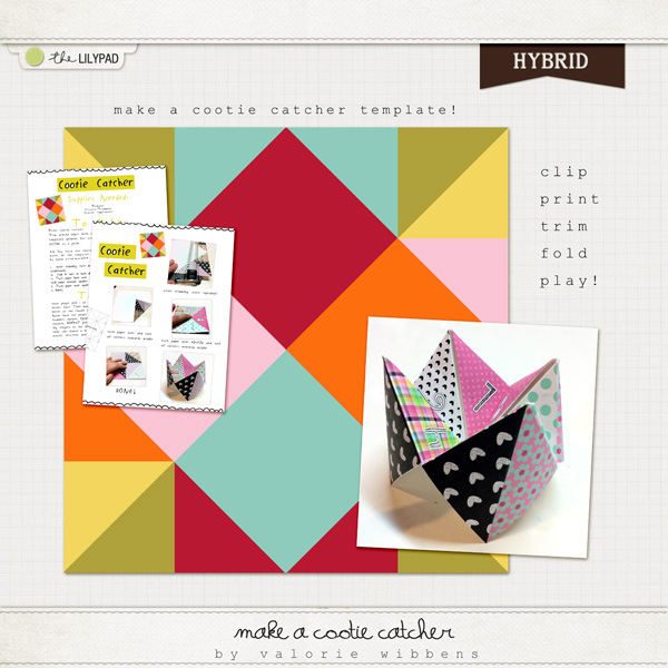 Digital scrapbooking templates templates the lilypad make a cootie catcher template maxwellsz