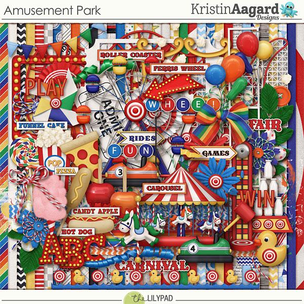 Digital Scrapbook Kit Amusement Park Kristin Aagard