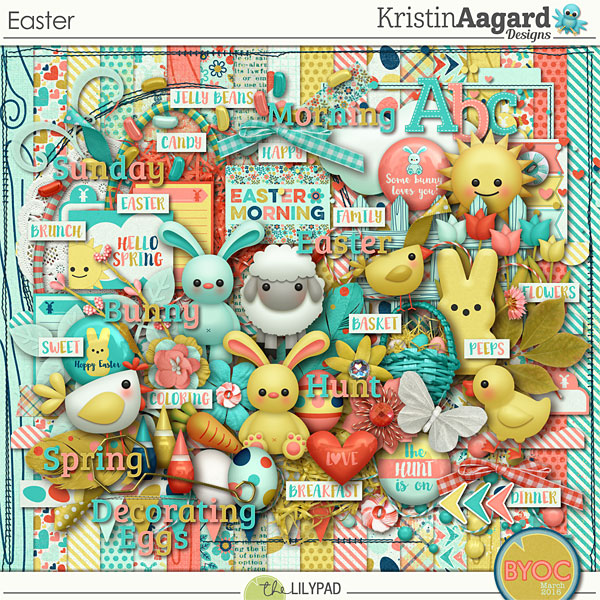 Digital Scrapbook Kit Easter Kristin Aagard