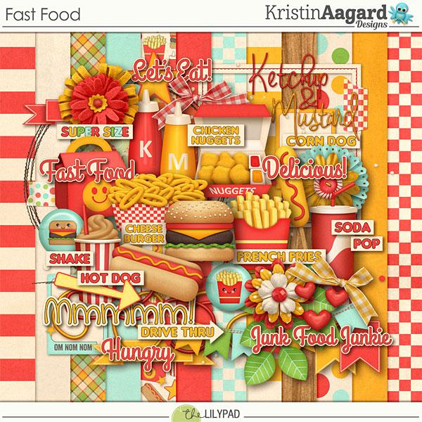 Digital scrapbook kit fast food kristin aagard for Scrapbooking cuisine