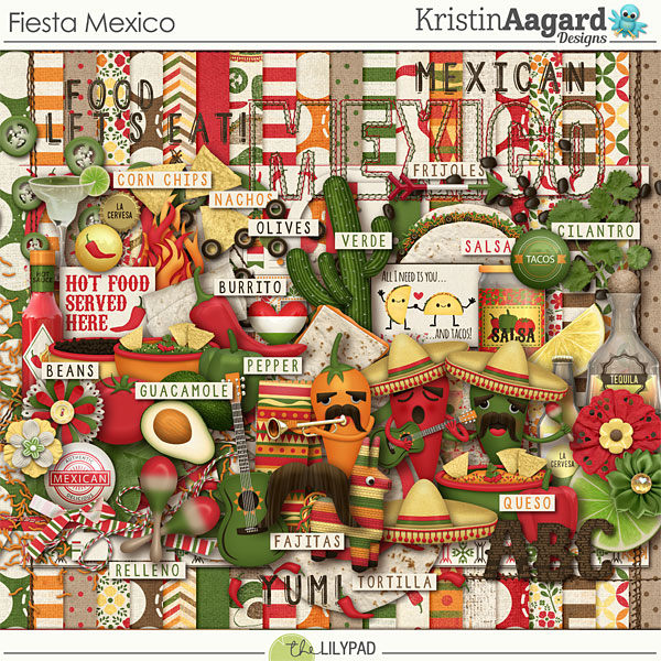 digital scrapbook kit fiesta mexico kristin aagard