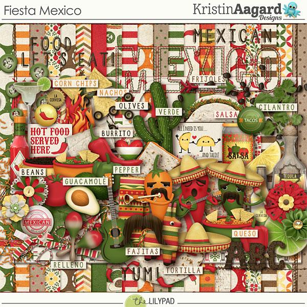 Digital Scrapbook Kit Fiesta Mexico Kristin Aagard