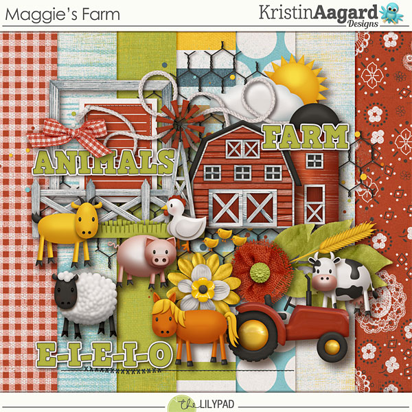 Digital Scrapbook Kit Maggie S Farm Kristin Aagard