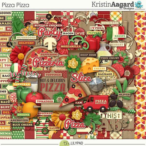 Digital Scrapbook Kit Pizza Pizza Kristin Aagard