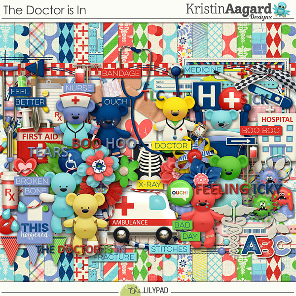 at The Hospital Scrapbook Page Kit