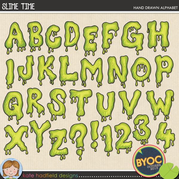 Slime Alphabet Letters