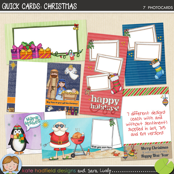 PRINTABLES: Quick Cards: Christmas