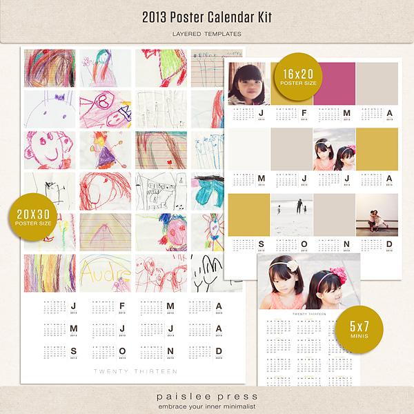 Calendar Kit Ideas : The lilypad calendars poster calendar kit