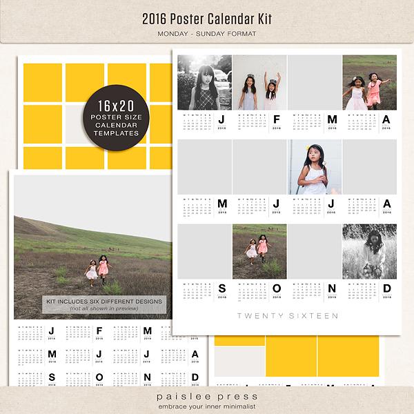 Calendar Poster 2016 : Poster calendar