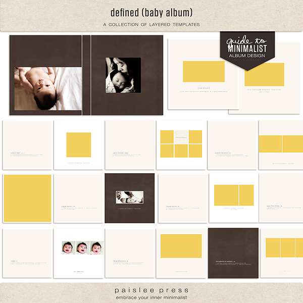 Defined Baby Layered Template Album by paislee press – Template for Photo Album