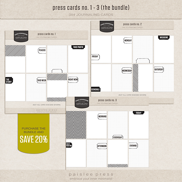 press cards bundle (no. 1 - 3)