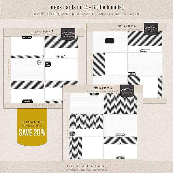 press cards bundle (no. 4 - 6)