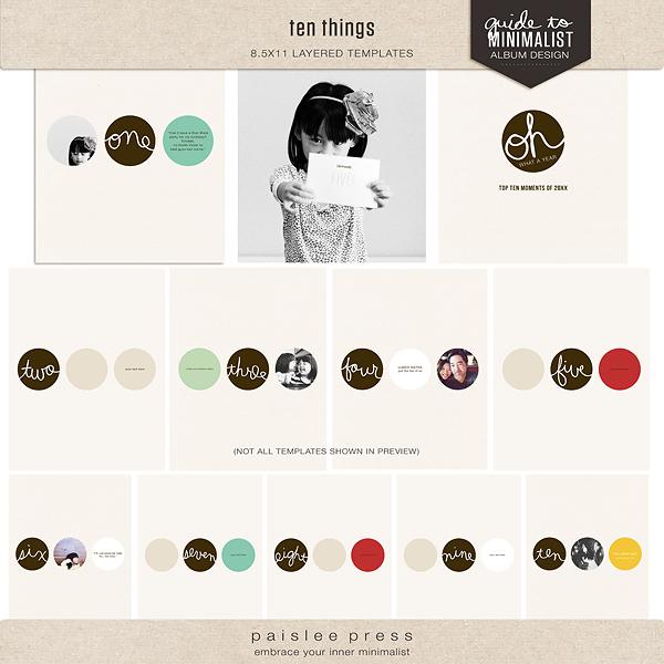 ten things by paislee press, 8.5x11