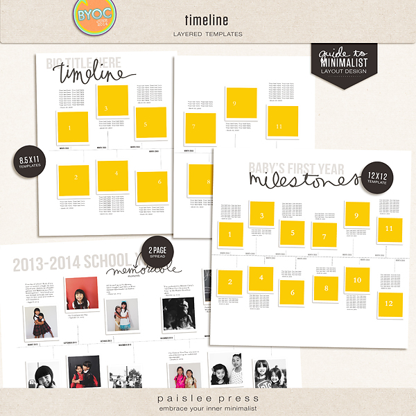 timeline templates by paislee press