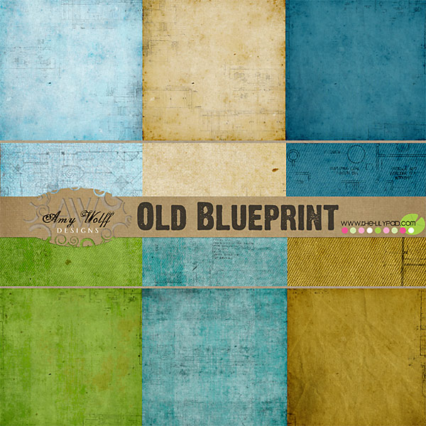Digital paper packs for scrapbooking the lilypad old blueprint paper pack malvernweather Image collections