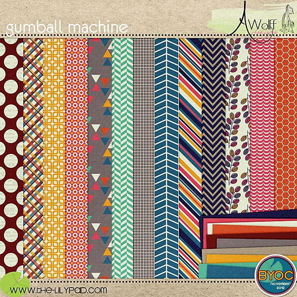 gumball machine paper pack