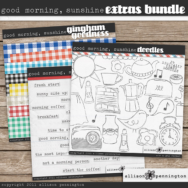 Good Morning Sunshine: Extras Bundle