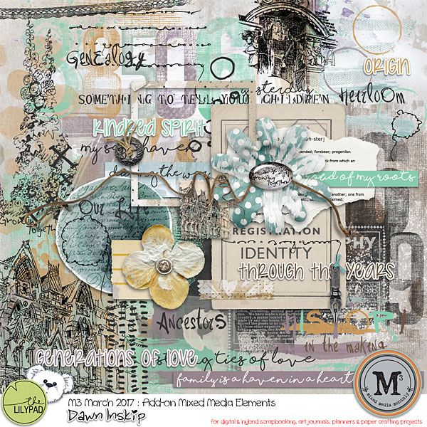 Mixed Media Elements {Add-on} M3 Mar 17