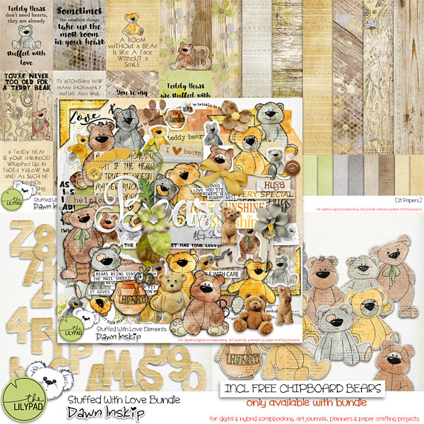 Stuffed With Love Bundle {incl FREE Chipboard Bears}