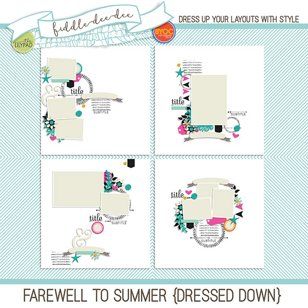 Digital scrapbook template farewell to summer dressed down farewell to summer dressed down pronofoot35fo Image collections