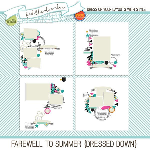 Digital Scrapbook Template Farewell To Summer Dressed Down