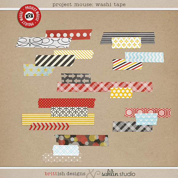 project mouse (days): washi tape