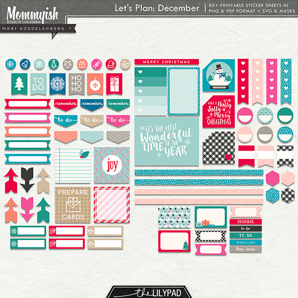 photo relating to Printable Sticker Sheet named Allows Method - December Printable Sticker Sheets