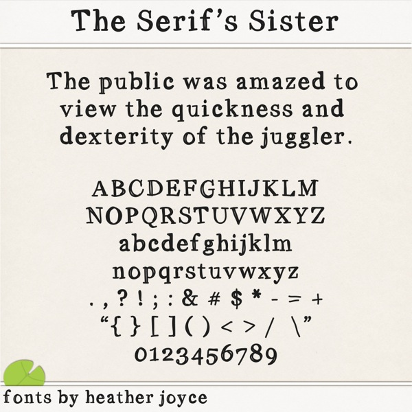 The Serif's Sister