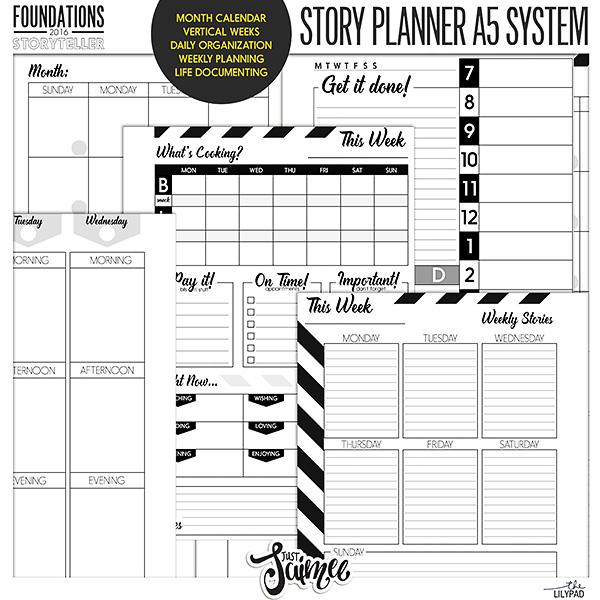 Storyteller 2016 Story Planner System A5 Calendar