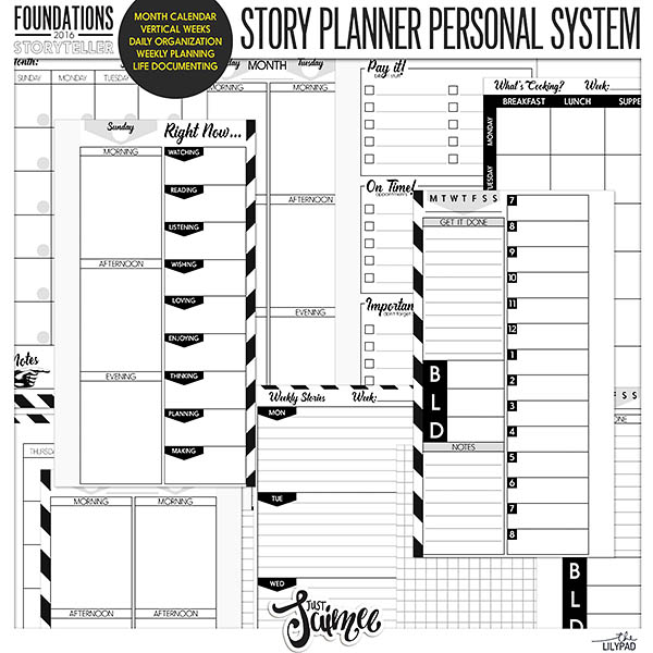 Storyteller 2016 :: Story Planner System Personal Calendar