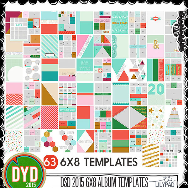 DYD 2015 6x8 Mega Template Album 63 templates by Just Jaimee – Template for Photo Album