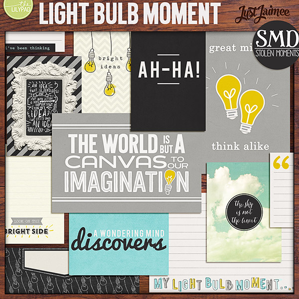 Light Bulb Moment Collab Journal Cards By Just Jaimee