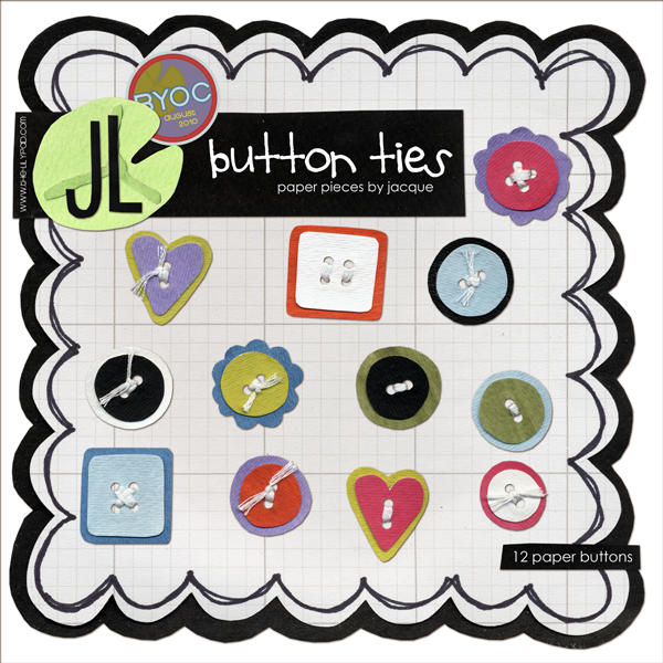 Button Ties by Jacque