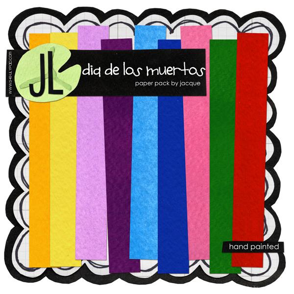 Dia De Los Muertos Paper Pack by Jacque