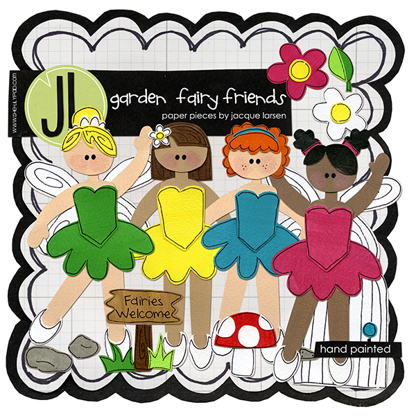 Garden Fairy Friends by Jacque