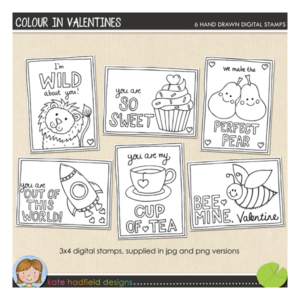 Colour in Valentines