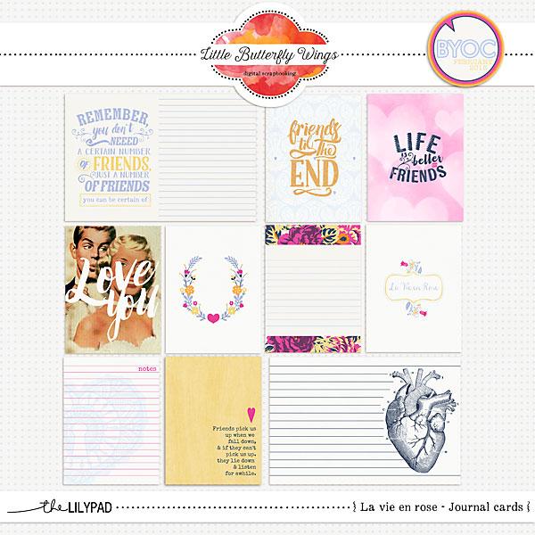 the lilypad journal cards la vie en rose journal cards. Black Bedroom Furniture Sets. Home Design Ideas