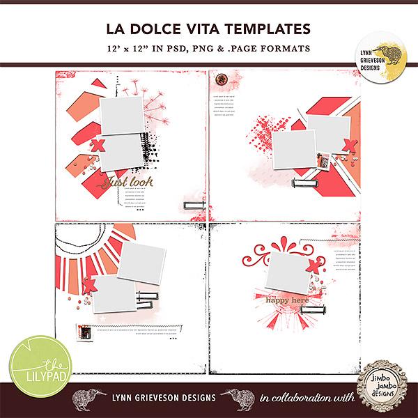 la dolce vita templates by the lilypad designer lynn grieveson