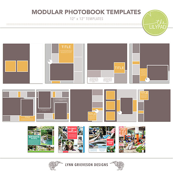 modular photobook template album by the lilypad designer. Black Bedroom Furniture Sets. Home Design Ideas