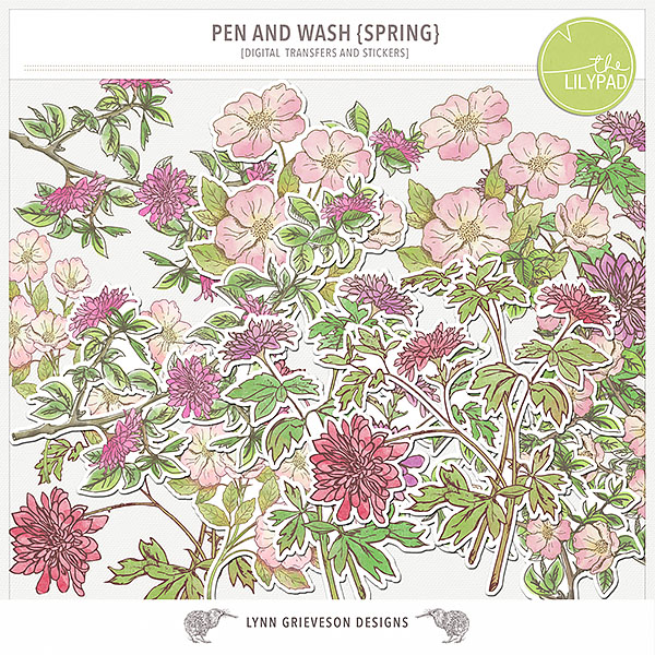 Pen and Wash Spring by Lynn Grieveson