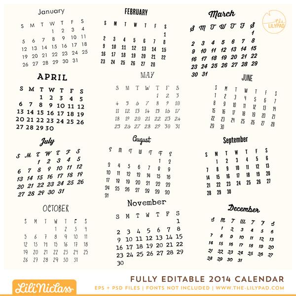 calendars fully editable 2014 calendar fully editable 2014 calendar ...