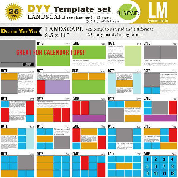 DYY Template Set 11 x 8,5 (landscape)